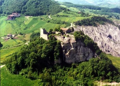 Castello Canossa foto aerea